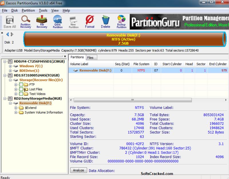 Eassos PartitionGuru Serial Keygen Free Full
